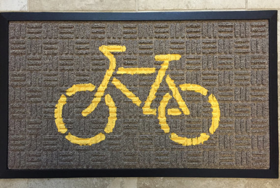 Doormat (Yellow on Beige)