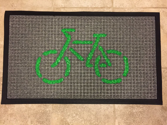 Doormat (Green on Gray)