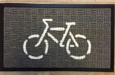 Doormat (White on Gray)