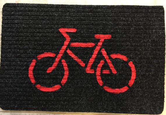 Lightweight Doormat (Red on Black)