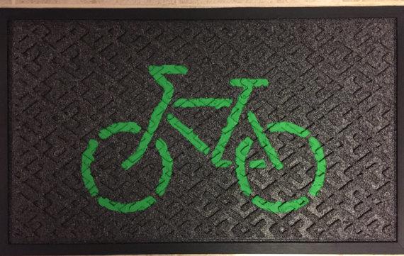 Doormat (Green on Black)