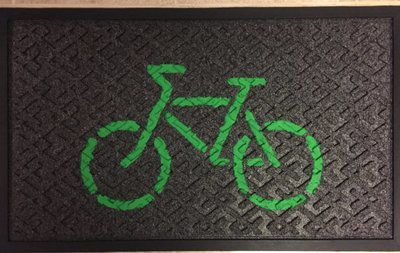 Doormat (Green on Black)