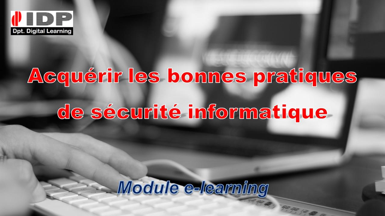 Bonnes pratiques de sécurité informatique : FOAD (mooc e-learning)