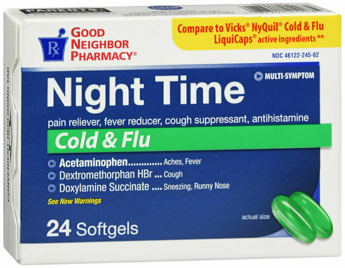 GNP NIGHT TIME COLD & FLU 24 TAB
