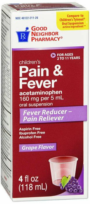 GNP CHILD PAIN RELIEF GRAPE 4 OZ