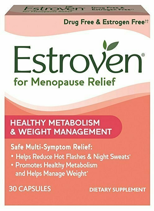 Estroven Weight Management | Menopause Relief Dietary Supplement | Safe Multi-Symptom Relief | Helps Reduce Hot Flashes & Night Sweats* | Helps Manage Weight*| Drug Free & Estrogen Free** | 30 Caplets