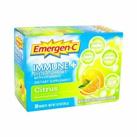 Alacer Emergen C Immune Plus Vitamin D Drink Mix Packets, Citrus Flavor - 30 Each