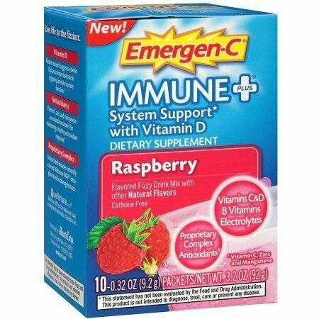 Emergen-C Immune + System Support, Raspberry 10 each