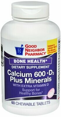 GNP CALCIUM + D3 + MINERALS 600 MG CHEWABLES 60 CT