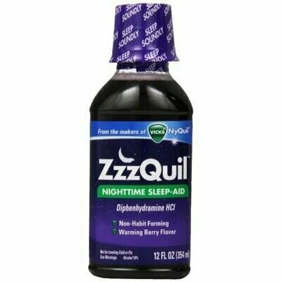 ZzzQuil Nighttime Sleep-Aid Liquid, Warming Berry Flavor 12 oz