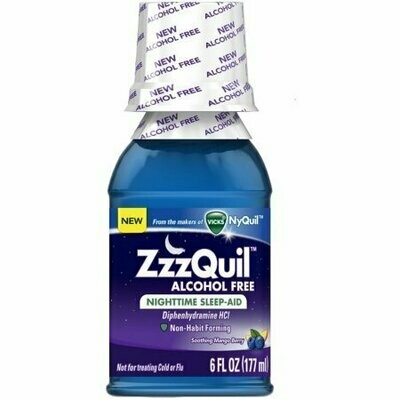 ZzzQuil Alcohol Free Nighttime Sleep Aid, Soothing Mango Berry 6 oz