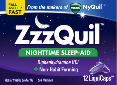 ZzzQuil Nighttime Sleep-Aid, LiquiCaps 12 each