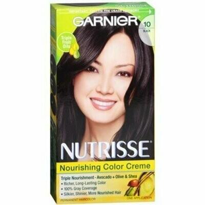 Garnier Nutrisse Haircolor Creme, Black [10] 1 each