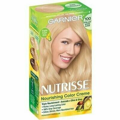 Garnier Nutrisse Nourishing Color Creme, Extra-Light Natural Blonde [100] 1 each