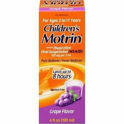 Motrin Children's Oral Suspension Grape 4 oz