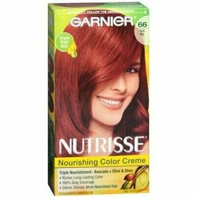 Garnier Nutrisse Nourishing Color Creme, True Red [66] 1 each