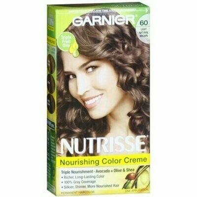 Garnier Nutrisse Haircolor - 60 Acorn (Light Natural Brown) 1 Each