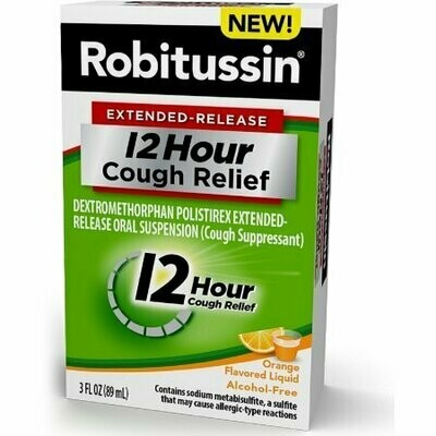 Robitussin Extended-Release 12 Hour Cough Relief, Orange 3 oz