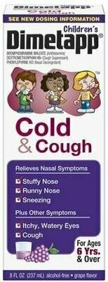 Dimetapp Children's Cold & Cough Liquid-Grape-8 oz