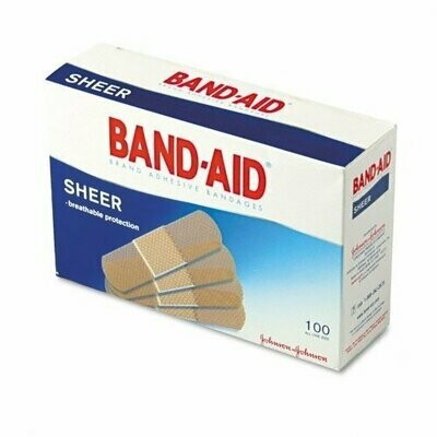 BAND-AID COMFORT-FLEX SHEER 1 SIZE 100CT
