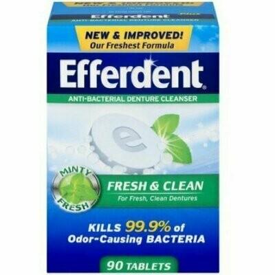 Efferdent Plus Mint Denture Cleanser Tablets 90 each