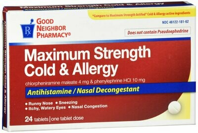 GNP COLD ALLERGY TABS 24CT