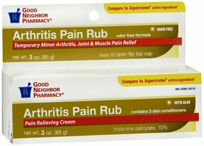 GNP ARTHRITIS PAIN RELIEF WITH ALOE CREAM 3 OZ