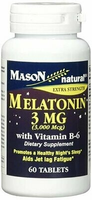Mason Vitamins Melatonin 3mg Tablets, 60 Count