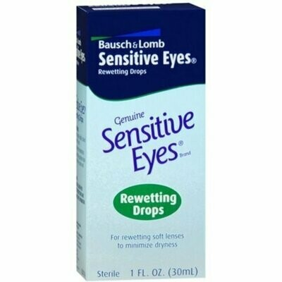 Bausch & Lomb Sensitive Eyes Rewetting Drops 1 oz