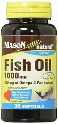 FISH OIL 1000MG SUPER OMEGA-3, 30-Count Softgels