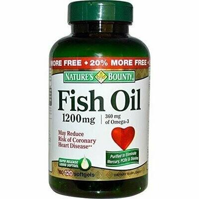 Nature's Bounty Fish Oil 1200mg, 120 Softgels