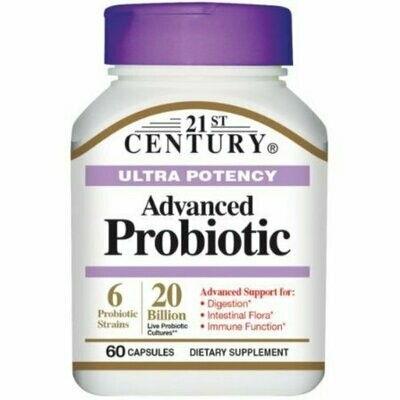 21st Century Ultra Potency Advanced Probiotic Capsules 60 Pack