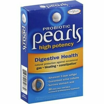 Enzymatic Therapy Probiotic Pearls High Potency Once Daily Softgels 30 Pack