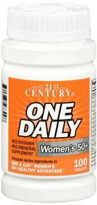 ONE DAILY WOMEN 50+ MULTI TAB 100CT