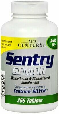 SENTRY SENIOR MULTIVITAMIN TAB 265CT