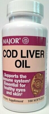 Cod Liver Oil - 100 Softgels