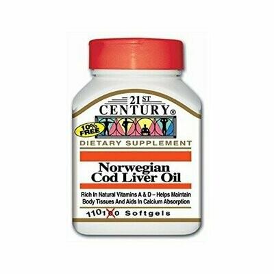 21ST Century NORWEGIAN COD LIVER OIL 110 SOFTGELS
