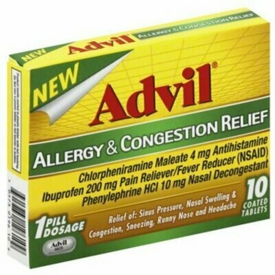 Advil Allergy & Congestion Relief Tablets 10 each