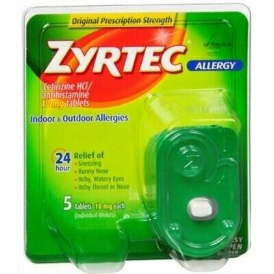 Zyrtec Allergy 10 mg Tablets 5 each