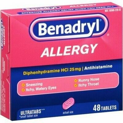 Benadryl Allergy Relief, Ultratab Tablets 48 each