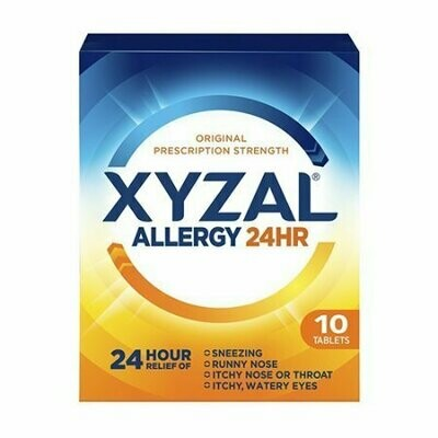 Xyzal Allergy 24 Hour Relief Of Tablets, 10 Each