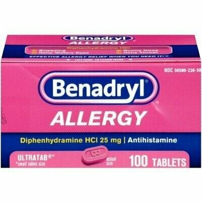 Benadryl Allergy Ultratab Tablets 100 each