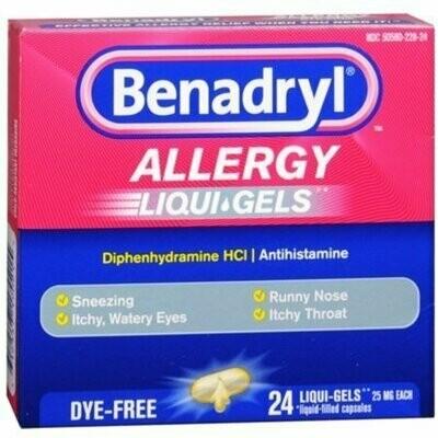 Benadryl Allergy Dye-Free 24 Liqui-Gels