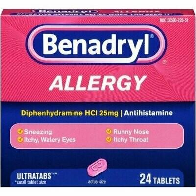 Benadryl Allergy Relief Ultratab Tablets 24 each
