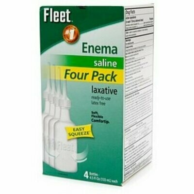 Fleet Saline Enema Four Pack 18 oz