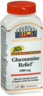 GLUCOSAMINE RELIEF 1000MG TAB 120CT