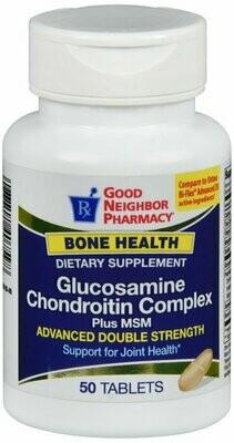 GNP GLUCOSAMINE CHONDOITIN ADVANCED TABS 50 CT
