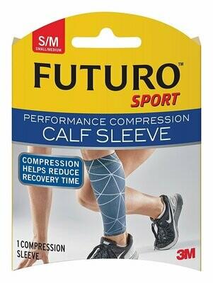 Futuro Sport Performance Compression Calf Sleeve, Small/Medium