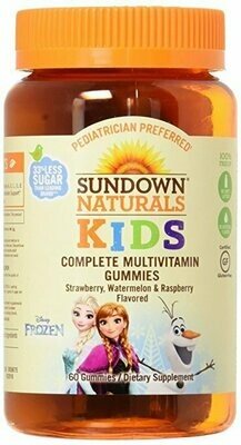 Sundown Naturals Kids Disney Frozen Complete Multivitamin, 60 Count
