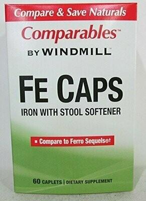 Windmill FE Caps, Iron with Stool Softener 60 Caplets
